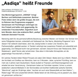 Asdiqa heißt Freunde